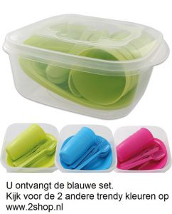 Camping-picknick-lunch-set-21-delig-Blauw