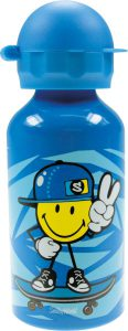 ZakDesigns-Smiley-2.0-Junior-Boy-Drinkbeker-Aluminium-400-ml-Blauw