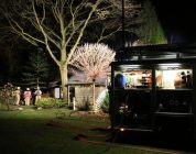 Chalet in brand op camping in Anloo